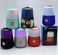 usb flash müzik çalar toptan satış-TG168 Gece Lambası Renkli Kablosuz Bluetooth Hoparlör Mini Protable LED Işık Flaş AUX TF USB FM Radyo Mp3 Müzik Çalar PC Akıllı telefon Için