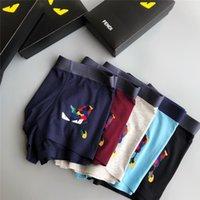 boxers jaunes pour hommes achat en gros de-Yellow Eye Hommes Sous-vêtements Drôle Grande Taille L-3XL Mode Logo Underwear Célèbre Modal New Mens Underpants Boxers Respirant