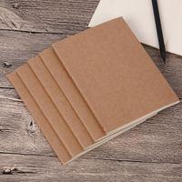 bağbozum boşlukları toptan satış-Sığır derisi kağıt dizüstü boş bloknotlar kitap vintage yumuşak lekelemek günlük notlar Kraft kapak dergisi notebook ofis okul kitap MMA1442