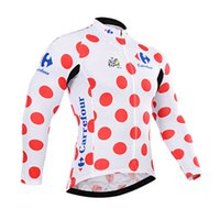 largo ciclismo tour francia al por mayor-Equipo TOUR DE FRANCE Ciclismo Maillot de manga larga Transpirable Secado rápido Al aire libre Tops deportivos Ropa de bicicleta Ropa Verano para hombre Y53021