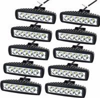 luces de niebla de carretera al por mayor-10PCS de 6 pulgadas LED Luz de trabajo Delgado Bar SPOT haz de carretera de faros antiniebla SUV todoterreno