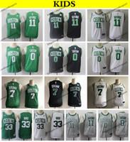 260cc792631 2019 Kids #11 Boston Kyrie Irving Jayson Tatum Jaylen Brown Basketball Jerseys  Cheap Larry Bird #33 Youth Green City Stitched Shirts S-XL