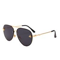 güneş gözlüğü avrupası toptan satış-Yeni Marka unisex tasarımcı moda kurbağa ayna metal güneş gözlüğü sokak çekim retro lüks güneş gözlüğü Avrupa ve Amerika moda trendi