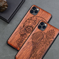 Wholesale apple carvings for sale - Group buy Carved Wood Case For iPhone iPhone Pro Shockproof Case TPU Bumper Cover For iPhone Pro Max Case Wood Shell T191017