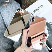 akıllı ayna kutuları toptan satış-Ayna Kılıfı Kaplama Kapak lüks tasarımcı telefon kılıfları Için iPhone xr xs max 8 artı 6 s 7 7 p x Akıllı 2019 Coque