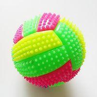 bounce licht bälle großhandel-Fitness Spiky Massage Balls Trigger Point Sportbälle Blitzlicht Ändernder springenden Igel Ball