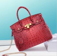 neue design platinkette großhandel-New Designer Design Damen Einzel Umhängetasche Damen Kette Tasche Handtasche Europäische und amerikanische Marke Fashion Bag Crocodile Ribbon Platinum