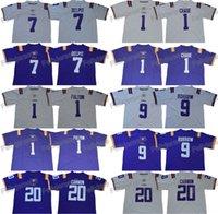 ücretsiz top toptan satış-LSU Kaplanları 9 Joe Burrow 7 Grant Delpit 20 Billy Cannon 1 Ja'Marr Chase Kristian Fulton Koleji Futbol Formalar Ücretsiz Kargo
