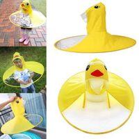 ingrosso anatra di pioggia-Cute Kids UFO Raincoat Rain Cover Divertente Yellow Duck Raincoat Umbrella Poncho Hands Free Rainwear Impermeabile Rain Gear CCA11000 50 pezzi