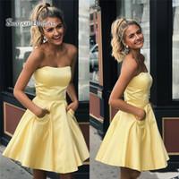vestidos de fiesta cortos de color amarillo claro al por mayor-Vestidos de fiesta cortos de color amarillo claro Vestidos de fiesta Vestidos de fiesta Vestido de cóctel Vestidos de fiesta