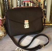 bolsos de diseñador de cuero real al por mayor-Newset Classic Messenger Bag Bolso de cuero real de las mujeres Pochette Metis Totes Bolsos de diseñador Bolsos de hombro Bolsos de bandolera M40780