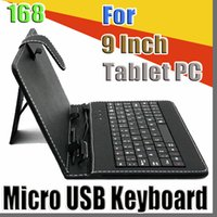 Wholesale red inch tablet bundle for sale - Group buy 168 colours USB Keyboard Leather Case For inch Android Tablet pc Folding Leather Protective Case B JP