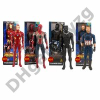 Wholesale high quality plastic figures resale online - The Avengers PVC Marvel Super Heroes Avengers spider man Black Panther Captain America High quality Action Figure best gift quot cm