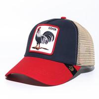 ingrosso cappelli regolabili-Estate Trucker Hat con Snapbacks e ricamo animale per adulti Mens Womens / Berretti da baseball curvi regolabili / Designer Sun Visor