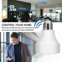 cfl led titular venda por atacado-Inteligente WiFi LED Suporte Da Lâmpada Base Soquete Da Lâmpada APP Sem Fio Adaptador de Luz de Controle Remoto E26 / E27 Bases