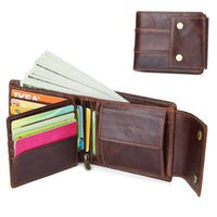Wholesale class wallets for sale - Group buy High Class Genuine Cow Leather Cowhide Card Coin Holder Cash Wallet For Men