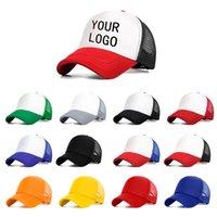 ingrosso disegno del logo di baseball-commercio all'ingrosso libero LOGO personalizzato Uomini Donne Berretto da baseball Estate maglia cappello da baseball regolabile papà cappello all'ingrosso femminile