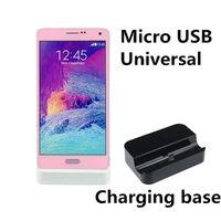 зарядное устройство для док-станции оптовых-Высокое Качество Универсальный Android Мобильный Телефон Зарядное Устройство База Micro USB Зарядка Синхронизация Стыковка Бесплатная Доставка DHL Радуга Удобства Док-Зарядные Устройства
