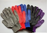 Wholesale sports gloves thin resale online - Outdoor breathable non slip particles silicone mountaineering riding nylon gloves summer thin belt elastic sports glove screen gloves