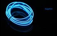 iluminação azul venda por atacado-3 metros Sapphire Azul fio do carro Painel Vibe Decor Fluorescent Neon Faixa de luz fria Gap Car Interior Mood Lighting