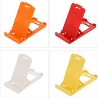Wholesale flexible stand for mobile online – Lazy Phone stand Foldable Flexible Mini Mobile Phone Holder plastic Bed Display phones for Iphone xs Tablet Samsung Galaxy