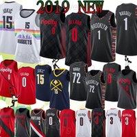 cj jersey оптовых-NCAA Damian 0 Lillard DAngelo 1 Рассел Джерси Nikola 15 Jokic Black 72 Biggie CJ 3 McCollum Баскетбольные майки высшего качества для мужчин футболка