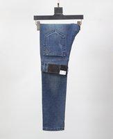 pantalones salvajes de los hombres al por mayor-v ersaces marca slim fit micro-bomba business wild men jeans diseñador simple clásico lavado pantalones oficial nuevo estilo venta pantalones