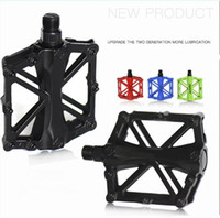 Wholesale aluminum bicycle pedals resale online - General Aluminum Alloy Mountain Bike Pedal Colors Bicycle pedal Antiskid pedal Modified Parts Bicycle Equipment