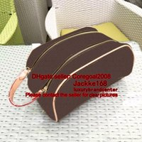 Wholesale travelling bag small size for sale - Group buy Handbag small pouch PURSE CLUTCH Travel Cosmetic Bag Makeup Pouch KING SIZE Toiletry Zipper Wash Organizer M47528 flower