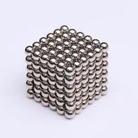 yapboz sihirli bloklar toptan satış-216pcs / set 3mm Sihirli neodim Mıknatıs Manyetik Bloklar Toplar Küre Eğlence Küp Puzzle Boncuk Yapı Oyuncak