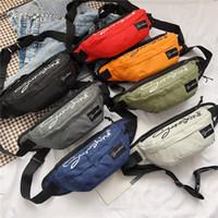 Wholesale polyester drawstring bags resale online - 2019 New Unisex Fashion Waterproof Pockets Messenger Bag Chest Bag Women Shoulder sac a main bandouliere femme