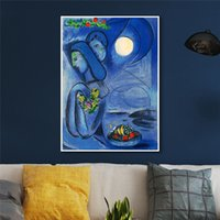 Wholesale russian paintings for sale - Group buy Dream By Russian Marc Chagall Painting Home Decor Print Canvas Art Wall Pictures Cuadros Salon Poster Paintings x60 x50