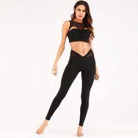ingrosso abiti da palestra invernali-GYM Fashion Spot Nuova tuta sportiva Yoga Suit sportivo in autunno e inverno in Europa e in America vendita calda Yoga Suit