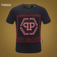 t-shirts de marque achat en gros de-2019 Italien marque hommes T-Shirt Mode Casual Fitness Cool O-cou T-shirt Pour Hommes D'été Phillip Plain À Manches Courtes Hommes t-shirt # 066