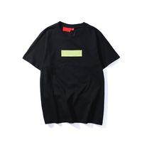 shirt marken logo groihandel-Hochwertige Mode brandneue Farbe Box Logo Rundhalsausschnitt T-Shirt Sommer neue Männer Frauen T Hip Hop Casual T-Shirt