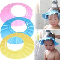 ingrosso cappelli da bagno per bambini-Prodotti per il bagno Shampoo Schiuma EVA regolabile Cuffia per la doccia del bambino Bambino Shampoo per bambini Cuffia per la doccia Cuffia per capelli