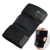 ingrosso attrezzatura per il basket-Ginocchio elastico Supporto per ginocchio Ginocchiera regolabile Rotula Ginocchiera Nastro benda da basket Escursionismo Running Knee Brace Safety Gear