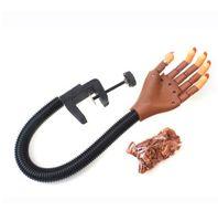 manikür modelleri toptan satış-Profesyonel 1 Uygulama El + 100 adet Nail İpuçları Nail Art Eller Aracı Ayarlanabilir Nail Art Modeli Eller DIY Manikür Aracı eğitim için