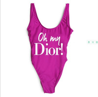 Wholesale one piece swimsuit resale online - Womens Bikinis Luxury Women s Swimsuit Brand Bikini Deisgner Letter One piece Swimwear for Women Summer Sexy Bikini Colors
