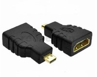 Wholesale hdmi type male for sale - Micro HDMI Type D Male to HDMI Female Type A Adapter Straight Connector Black fast ship