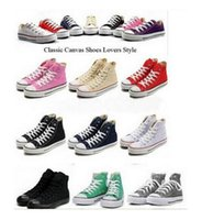 Wholesale hottest low price sneakers resale online - TOP quality Hot Factory promotional price conve stars canvas shoes women and men high Low Style Classic Canvas Shoes Sneakers Canvas Shoe