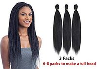 cabelo textura yaki venda por atacado-Pré-estirado tranças Fácil Braid Professional Itch gratuito Synthetic Fiber Corchet Tranças Yaki extensões do cabelo Textura