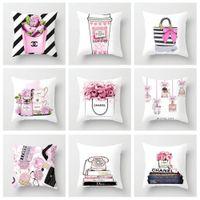 ingrosso sedile morbido di cuscino-45cm * 45cm Fiori verniciati Borsa bottiglia Super Soft Polyester Cushion Cover per divano letto Cuscino decorativo per la casa