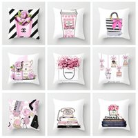 Wholesale sofa seat cushions for sale - Group buy 45cm cm Painted Flowers Bag Bottle Super Soft Polyester Cushion Cover Sofa Seat Bed Pillow Case Home Decorative Pillow Cover