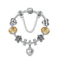 coffrets cadeaux mère achat en gros de-18 19 20 21 cm charme maman perles en argent 925 pendentif coeur pour la fête des mères en cadeau bricolage bijoux accessoires avec boîte-cadeau