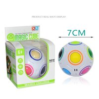 ingrosso novelli cervelloni-Puzzle Ball Rainbow Balls Sfidare Sfera Velocità Cube EDC Novità Fidget Calcio Rompicapo Giocattoli educativi all'ingrosso