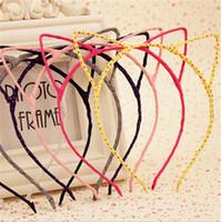 koreanische haar accessoires katze großhandel-Neue Mädchen Haarschmuck Koreanische Kinder Nette Katze Ohren Stirnband Kinder Kopfschmuck Mädchen Haarnadel Fein Zubehör