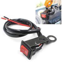 led-schalter fahrzeuge großhandel-Motorrad Elektrofahrzeug Flameout Änderung Schalter LED-Lichtschalter Rückspiegel Fixierbandes Harness