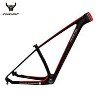 rote carbon fahrradrahmen großhandel-THRUST Carbon Rahmen Mountainbike 29er 27.5 Red Carbon MTB Rahmen Red T1000 Fahrradrahmen 15 17 19 BSA BB30 System 2 Garantie