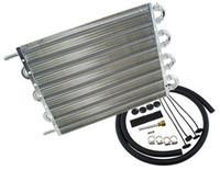 enfriador de transmisiones al por mayor-Kit de enfriador de aceite de transmisión de motor de aluminio universal de 8 hileras Radiadores negros